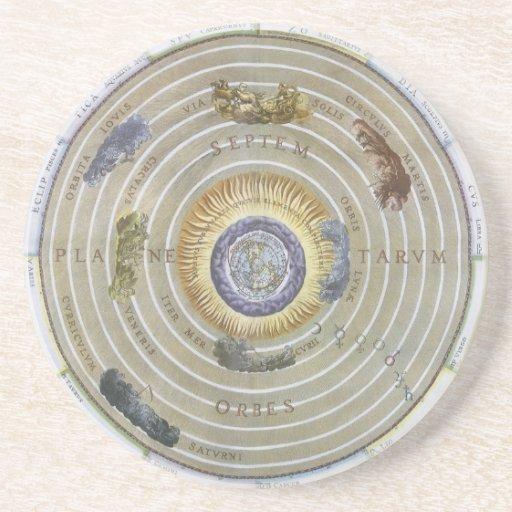 Himmelsk Ptolemaic Planisphere för vintageastronom Underlägg