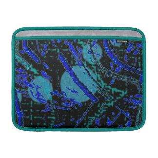 Himmelska Techno blått & svart mönster MacBook Air Sleeve