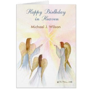 Himmelskt födelsedaganpassningsbarnamn, ålder, i hälsningskort