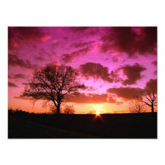 Himmelsolnedgångnatur