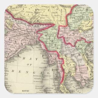 Hindoostan mer ytterligare Indien, china, Tibet Fyrkantigt Klistermärke