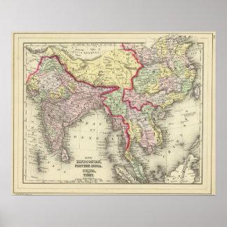 Hindoostan mer ytterligare Indien, china, Tibet Poster