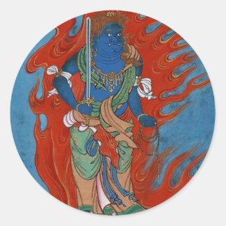 Hinduisk Folklore Runt Klistermärke