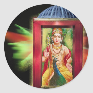 Hinduisk gud runt klistermärke