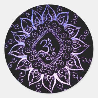 Hinduisk symbolklistermärke för Henna Runt Klistermärke