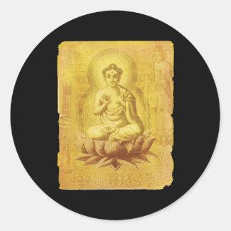 Hinduiska Buddha Runt Klistermärke
