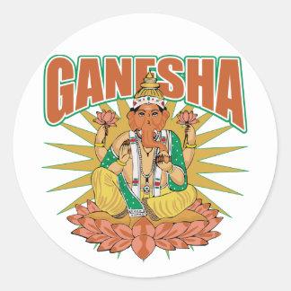 Hinduiska Ganesha Runt Klistermärke