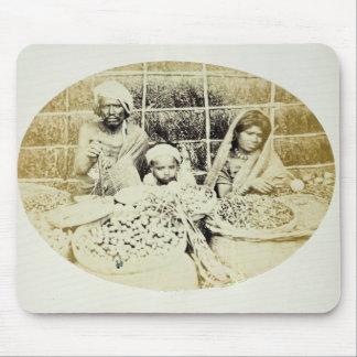 Hinduiska grönsak- och fruktsäljare i Madras, 19th Musmatta