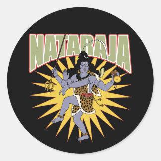 Hinduiska Nataraja Runt Klistermärke