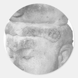 Hinduiskt skulpturkulturföremål runt klistermärke