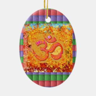 Hinduism för ramsa för symbol för Mantra för Julgransprydnad Keramik