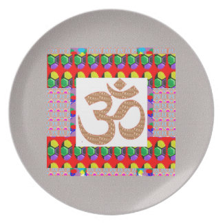 Hinduism för symbol för meditation för fest tallrikar
