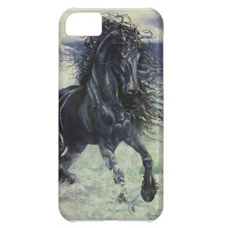"""Hingst """"för Friesianstorm"""" svart i hav iPhone 5C Fodral"""