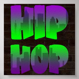 Hip hop för vintage för Corey tiger80-tal Posters