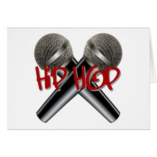 Hip hop - mc rappar dj rappar r&b för hälsningskort