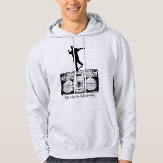 Hip hop- & Sk8boarding-heltäckandesvart Sweatshirt