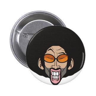 Hiphop afro- man standard knapp rund 5.7 cm