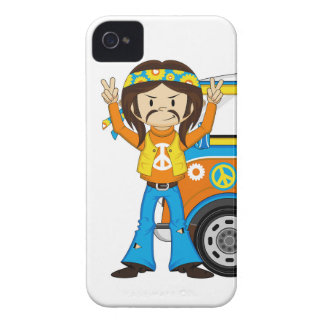 Hippie för tecknadSixtiesfred iPhone 4 Case-Mate Case