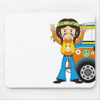 Hippie för tecknadSixtiesfred Musmatta