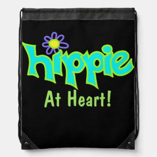 Hippie på svarten för konst för blått för gympapåse
