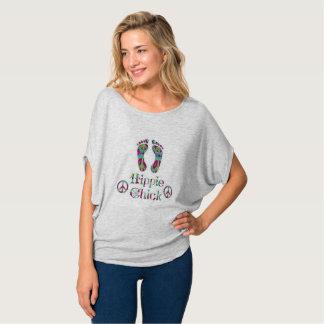 Hippiechicktryck på Bella+Kanfas cirklar bästa T Shirt