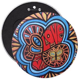 Hippiekärlek knäppas jumbo knapp rund 15.2 cm
