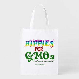 Hippies för återvinningsbara GMOs hänger lös Återanvändbar Påse