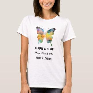Hippie'sen shoppar befordrings- värderar fjärilen tee shirts