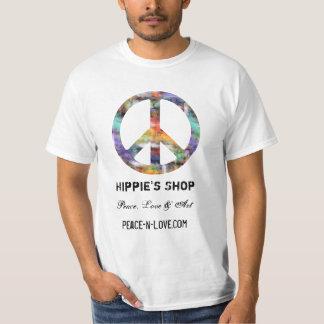 Hippie'sen shoppar befordrings- värderar t shirts