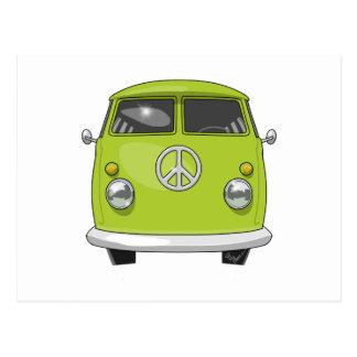 Hippieskåpbil 1960 vykort