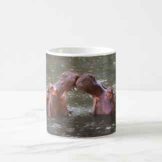 Hippopotami flodhäst pröva Amphibius som ska Vit Mugg