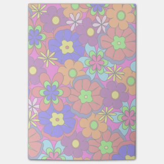 Hippy Retro blommor Post-it Lappar