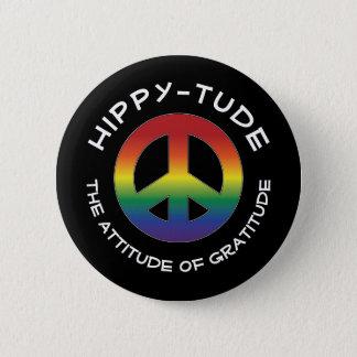Hippytude inställning med prismafredsteckenet standard knapp rund 5.7 cm