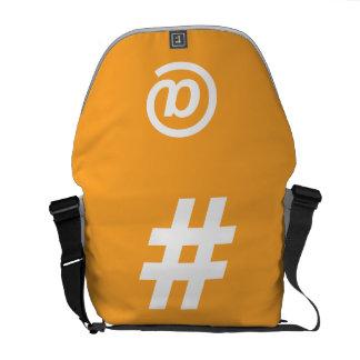 Hipstar orangemessenger bag kurir väska