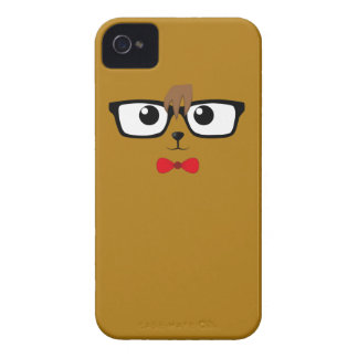 Hipster Bear iPhone 4 Case-Mate Fodral