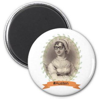 Hipster Jane Austen Magnet Rund 5.7 Cm