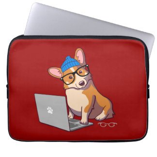 HipsterCorgi 2 (utan text) Laptop Sleeve