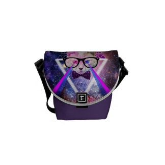 Hipstergalaxkatt Messenger Bag