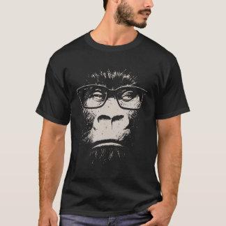 Hipstergorilla med exponeringsglas t-shirt