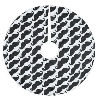 Hipstermustaschvit och svart mönster julgransmatta borstad polyester