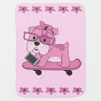 Hipsterrosabulldogg Bebisfilt