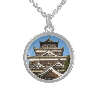 Hiroshima slott広島城, Hiroshima, Japan Halsband Med Rund Hängsmycke