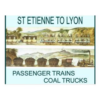 Historia transport, järnvägar vykort