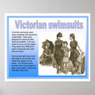 Historia Victorians, baddräkter Poster