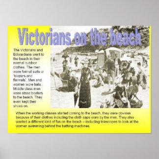 Historia Victorians på stranden Poster