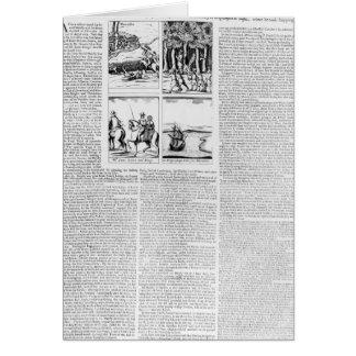 Historien av striden av Worcester Hälsningskort