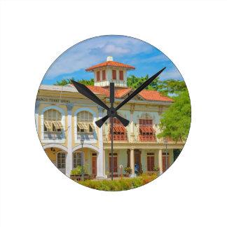Historisk byggnad Guayaquil, Ecuador Rund Klocka
