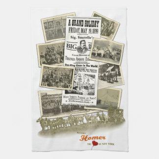 Historisk handduk för Homer NY SigSautelle cirkus Kökshandduk