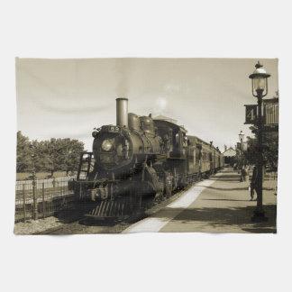 Historisk järnväg kökshandduk