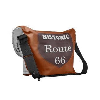 Historisk rutt 66 hänger lös messenger bag